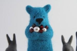 blue bear with crystals by ememem