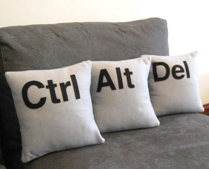 Control, Alt, Delete pillows