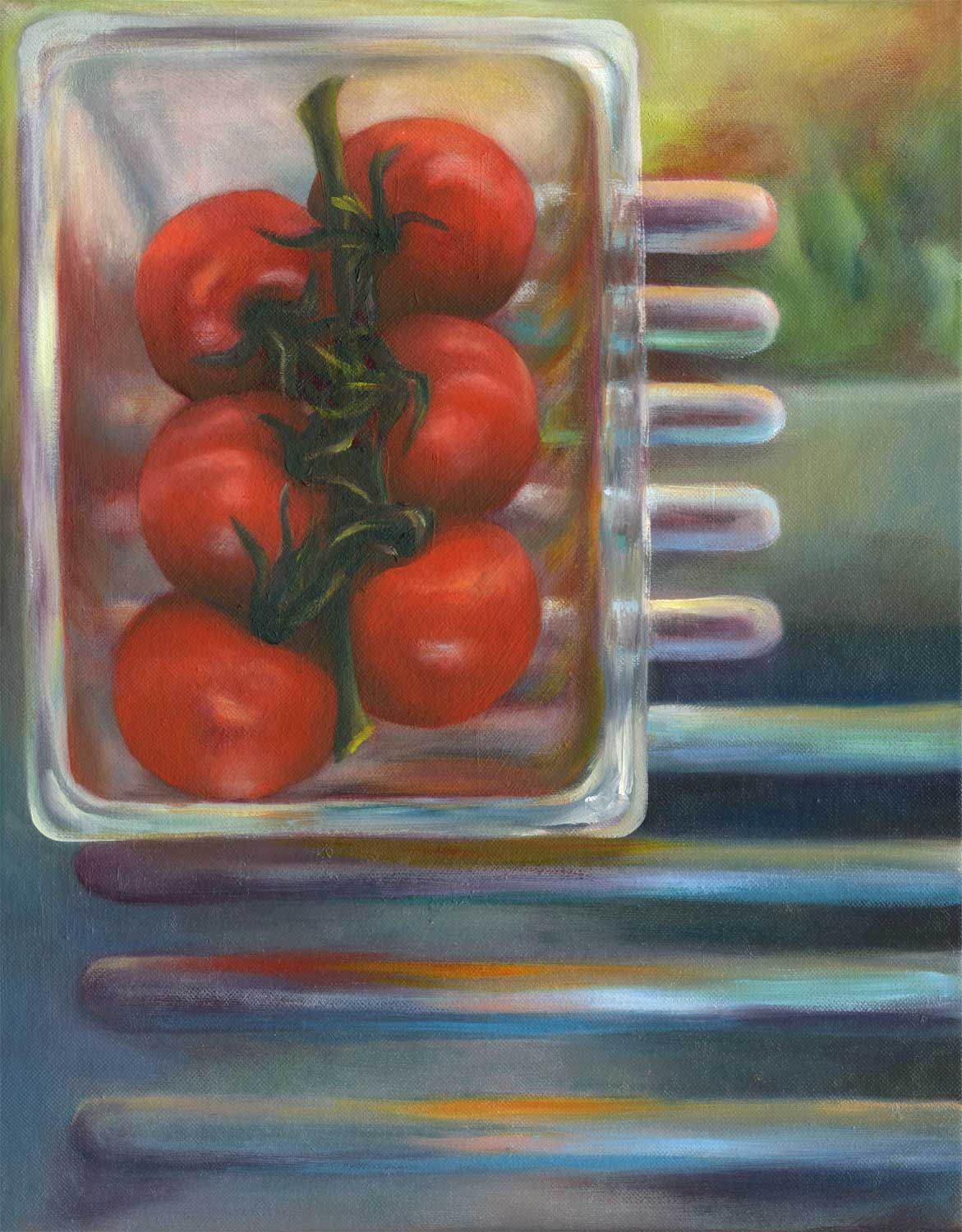 Salad Box | oil on canvas | 18x14""