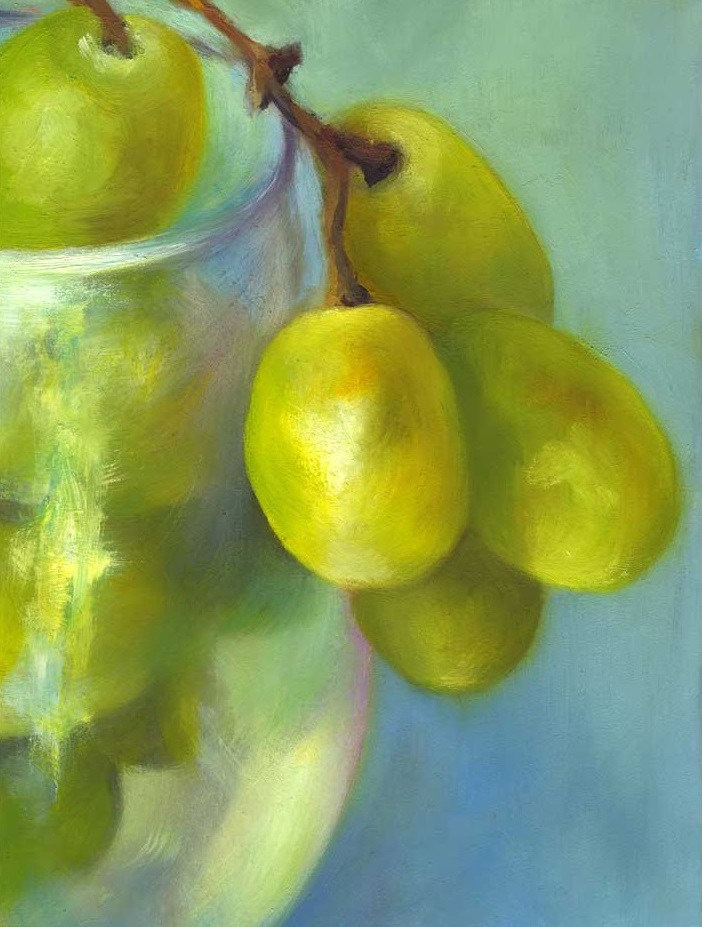 Chardonnay Cluster | oil painting | 7x5""