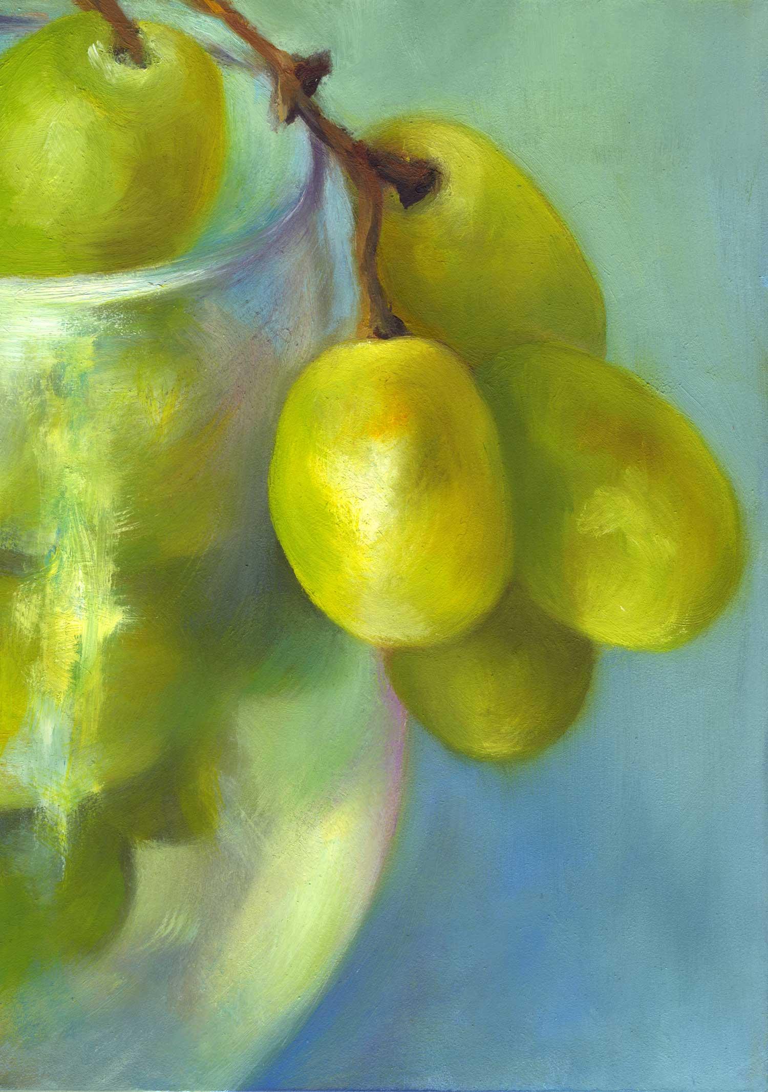 "Chardonnay Cluster | oil still life | 7x5"""