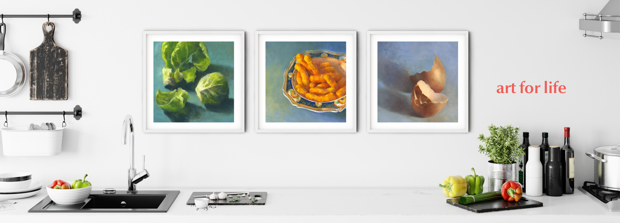 Add some color to the kitchen art wall - Buy kitchen art prints online at Galleria Fresco