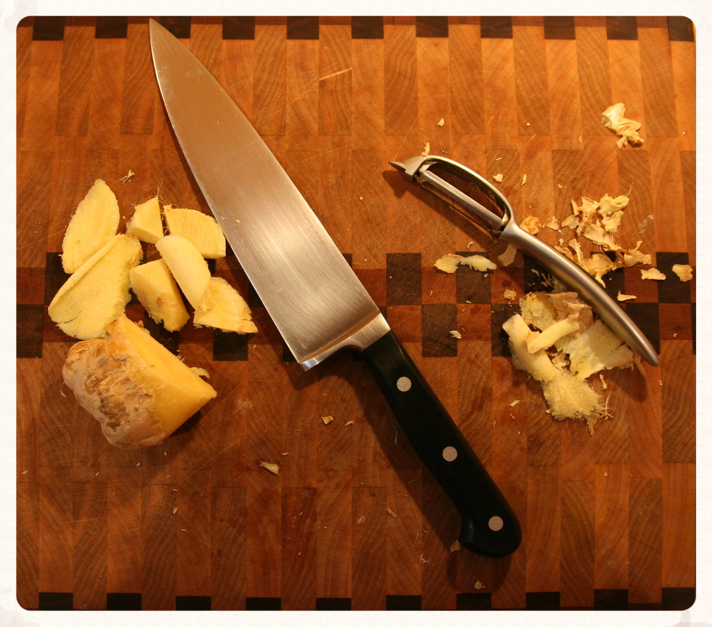 Freezing ginger allows for easier peeling, cutting, and/or grating