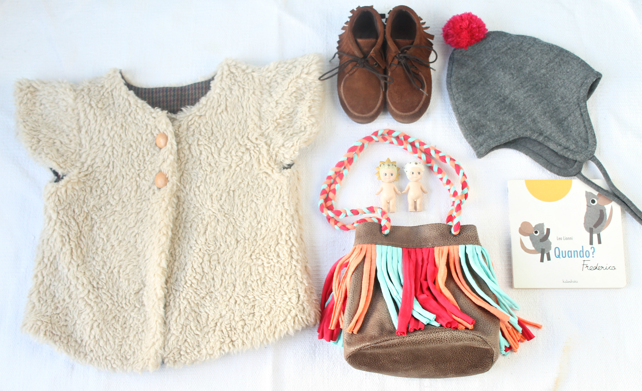 """Self drafted vest in sherpa 