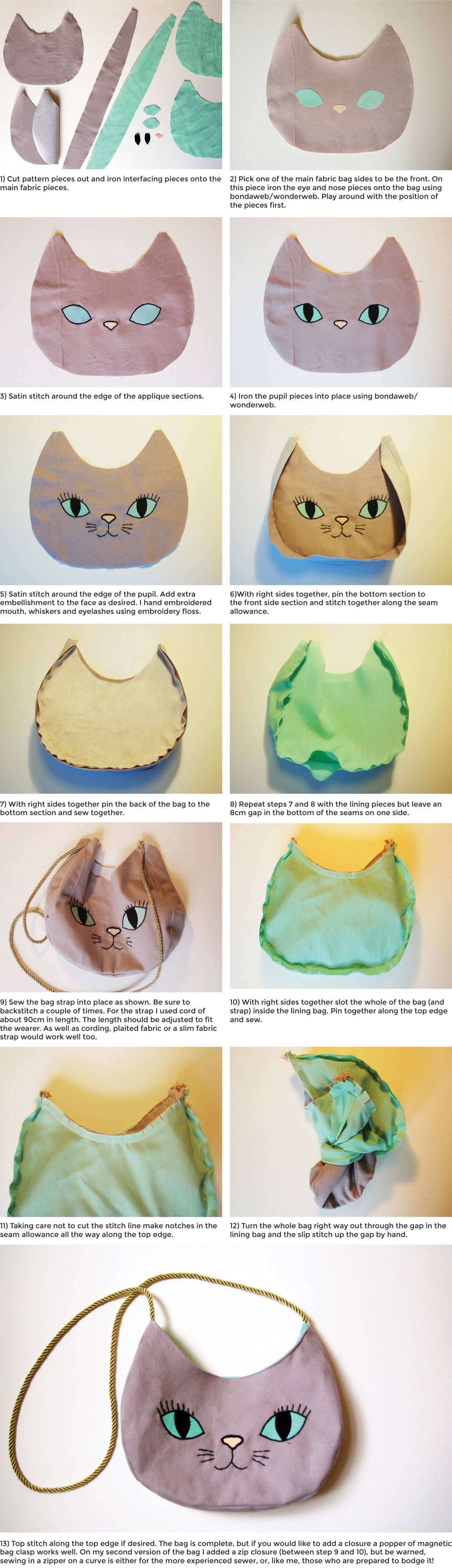 The purrfect bag tutorial
