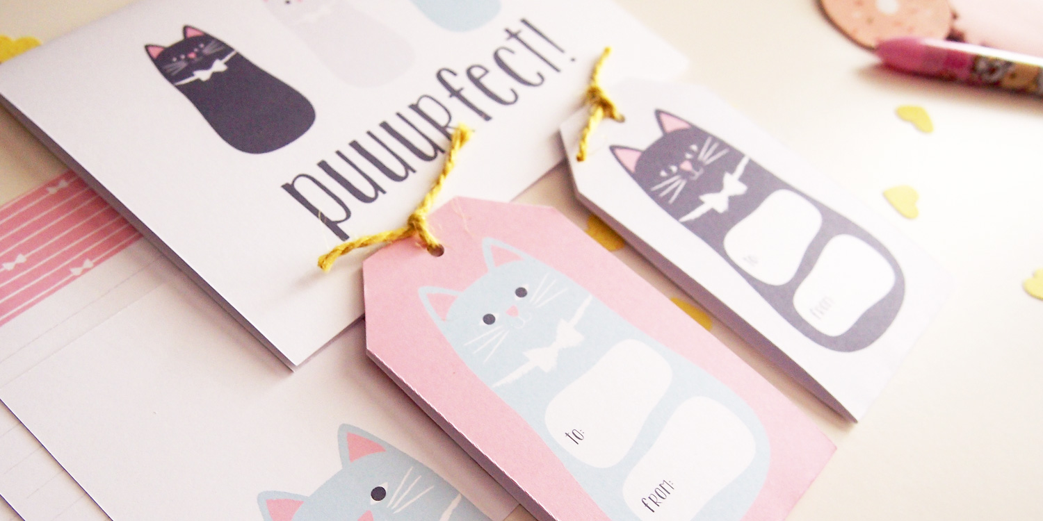 Puuurfect Cat Themed Printable Stationery