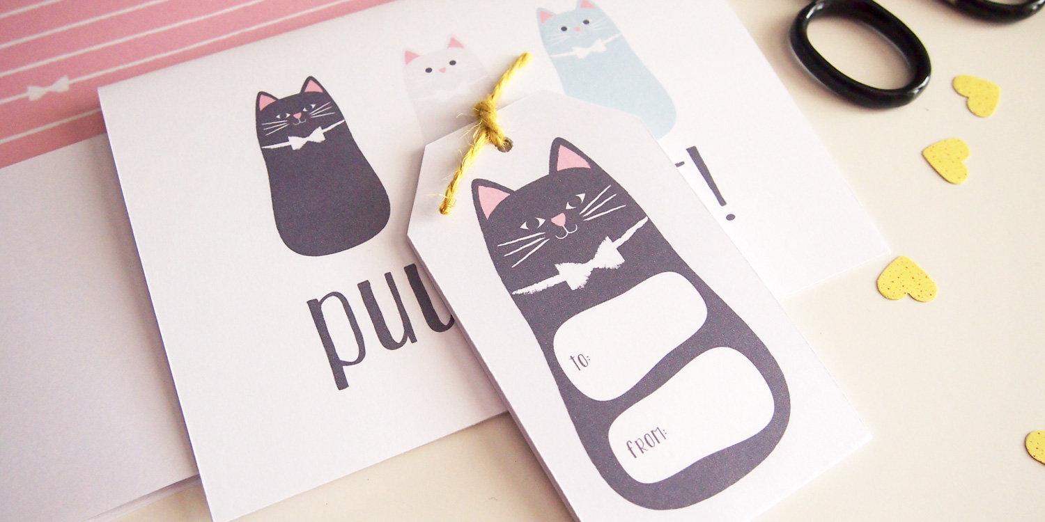 Puuurfect Cat Themed Stationery Printables