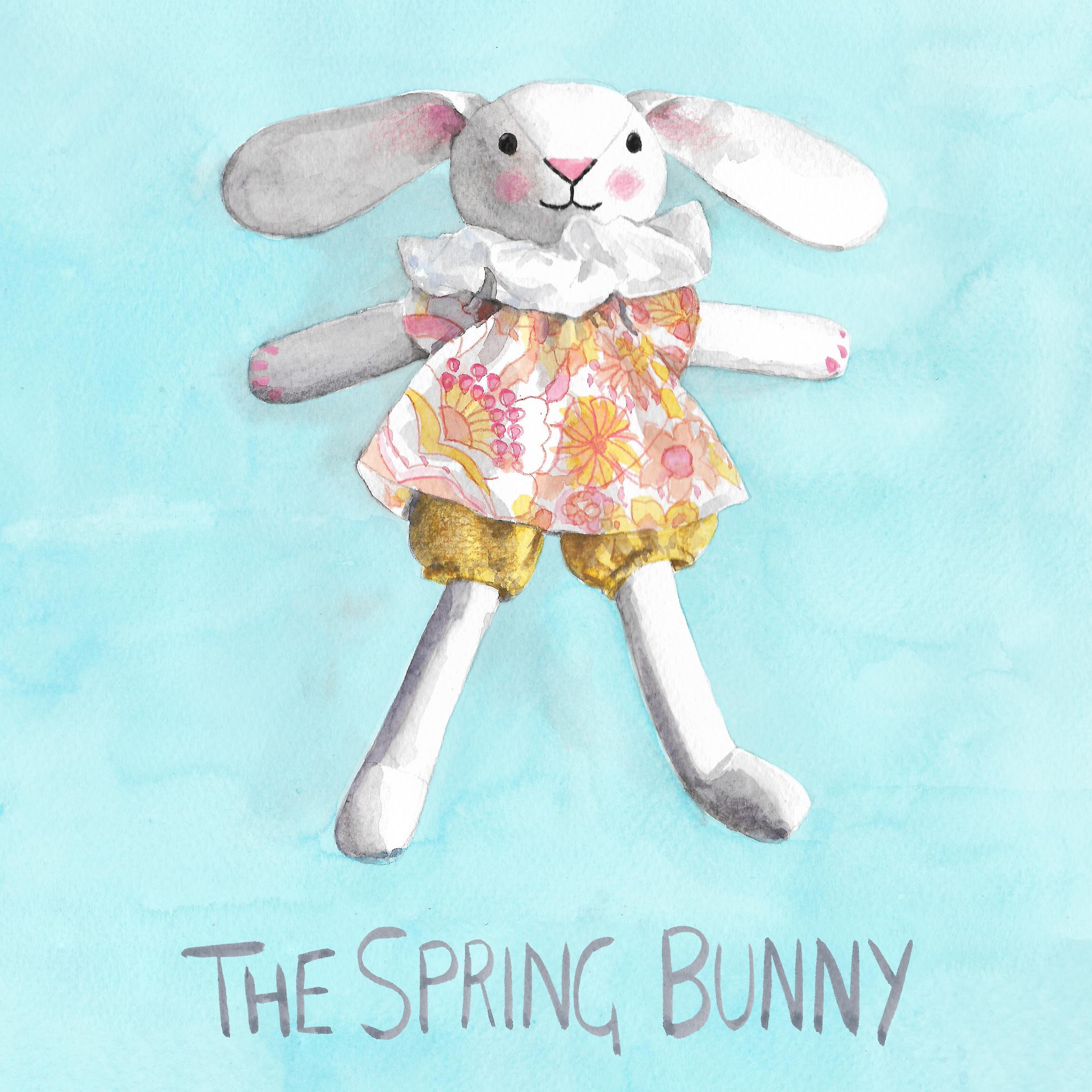 Free bunny pattern illustration