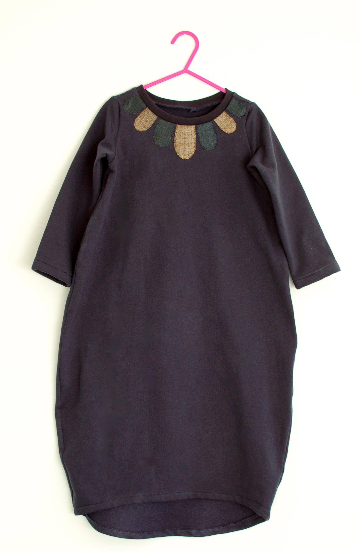 applique collar dress