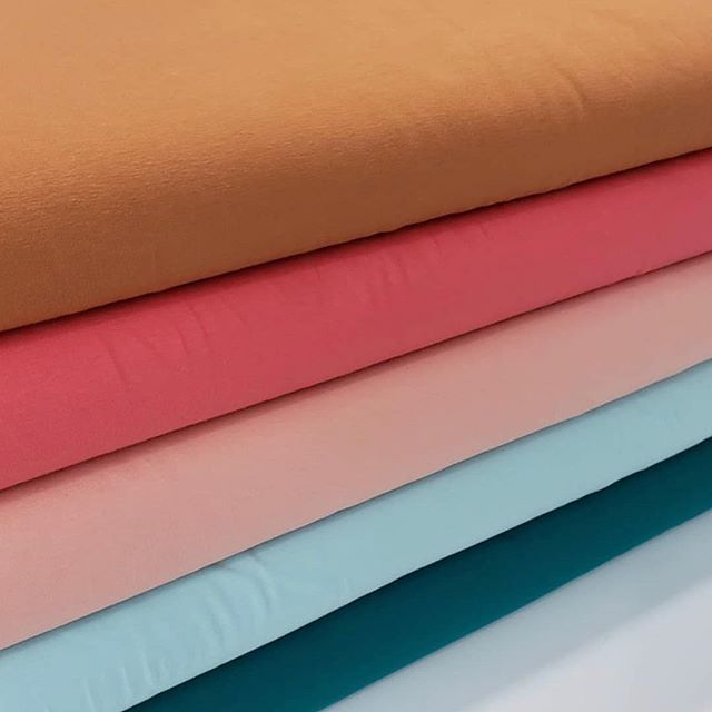 I can picture an UpBEET Tee or dress color blocked with all these colors 🙌🏻 they work so well together don't you think? Or maybe color blocked with some striped jersey. These are available @jumpingjunetextiles- one of the amazing sponsors of the @projectrunandplay Farmer's Market Sewing Contest (you have 2 weeks left to enter 🤞🏼) Be sure to check their account for some other lovely fabric selection. #prpdesignercapsulecontest #projectrunandplay #projectfarmersmarket #fabricstore #sewing#prpdesignercapsule #sewingforkids#sewingcontest