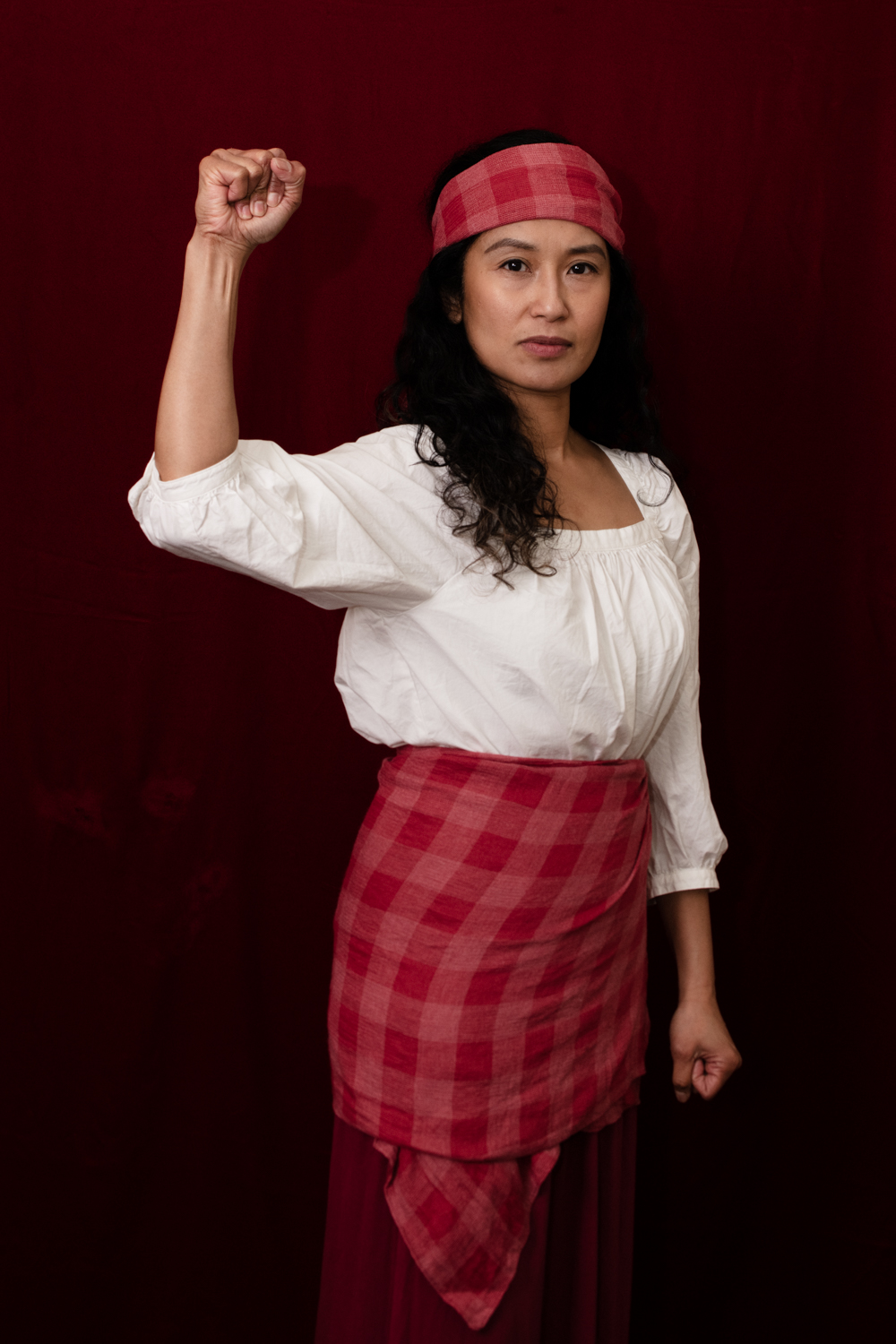 As an outgrowth of this project I hosted an in gallery photoshoot asking people to show up as their version of a Resistor, however they might interpret this concept. Over a four hour period we made images of eight separate groups and individuals. From the embodiment of Gabriel Silang, the Filipina revolutionary leader who lead the fight for independence from Spain in the 1760's to a family of four who are active protestors and brought their beautiful signs, this was an incredible way to expand the project from the past to the present.