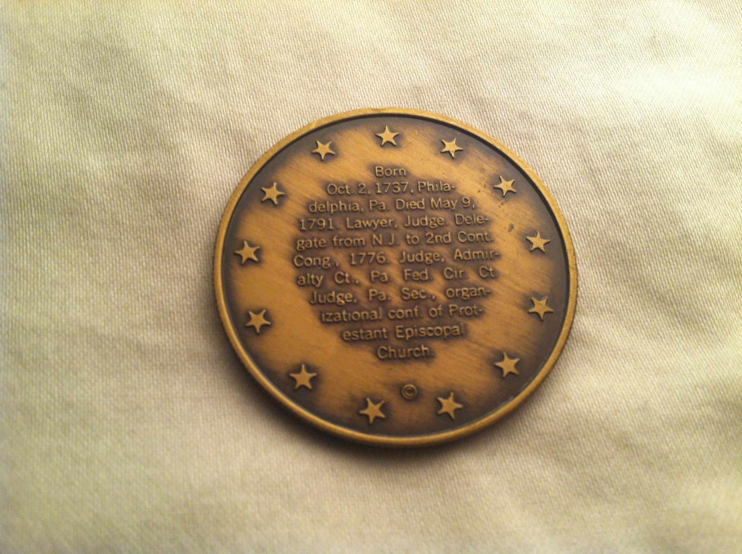 Hopkinson Bronze Medal (Reverse)