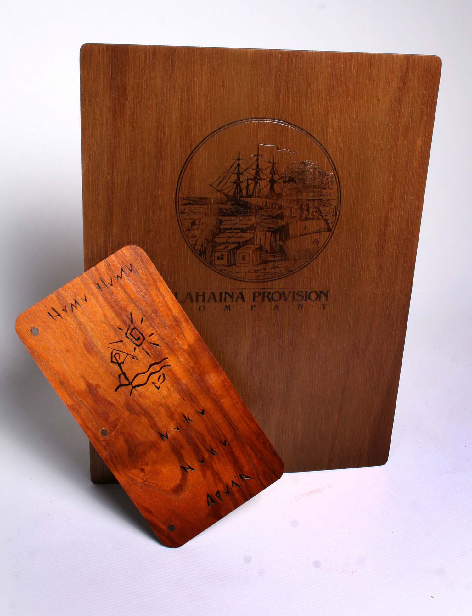 Wood Menu Covers