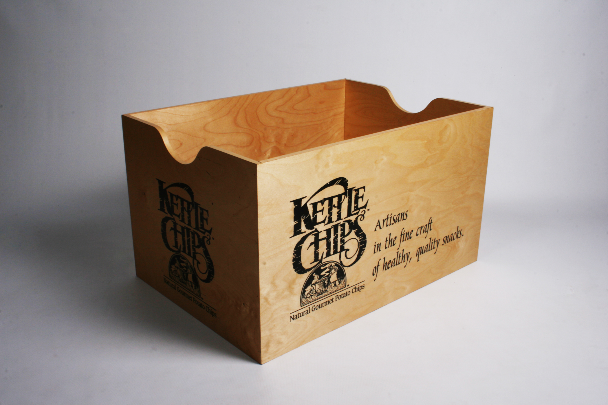 Kettle Chips Crate Display Enhancer. Birch Plywood.