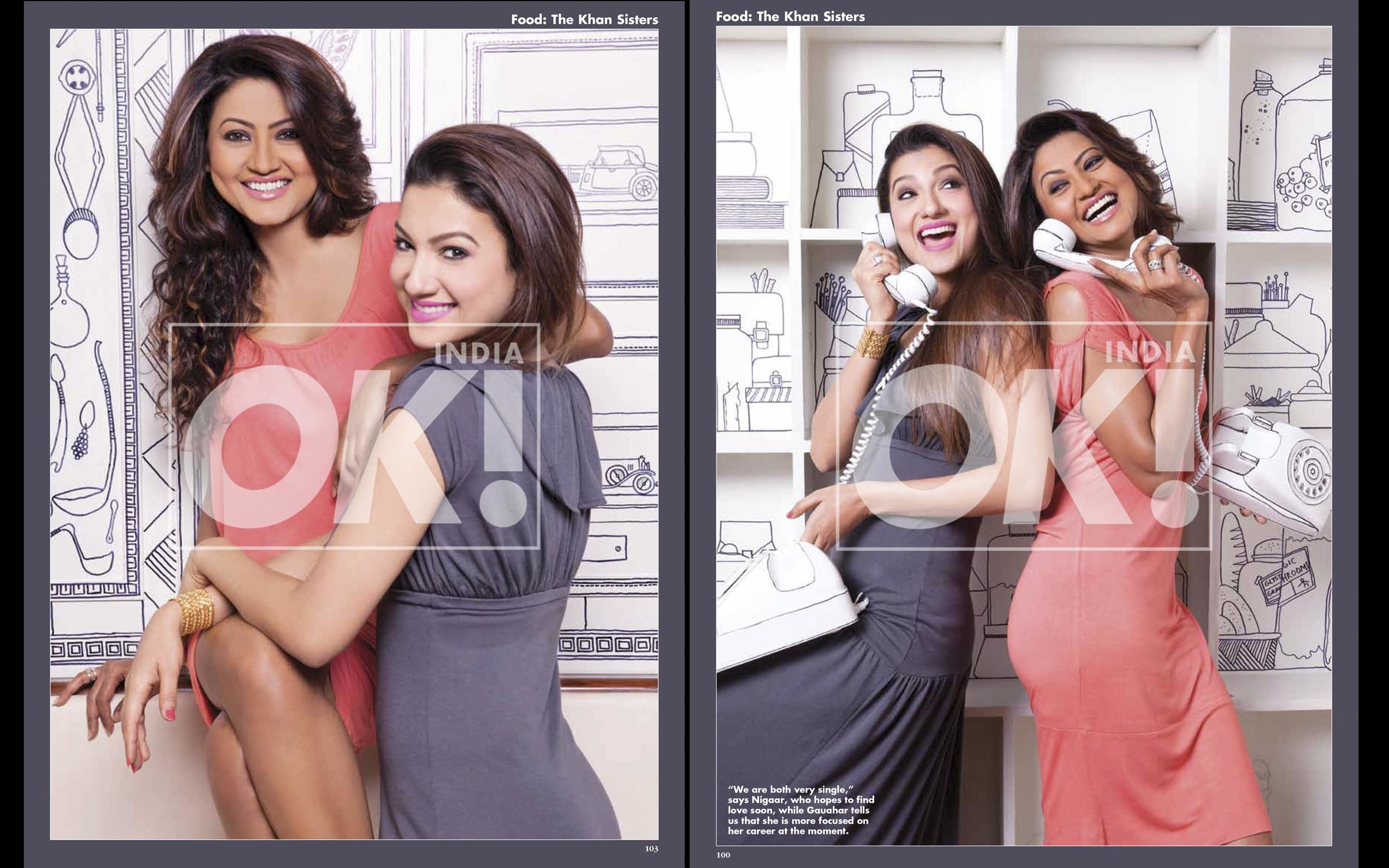 Gauhar & Nigaar Khan - OK Magazine