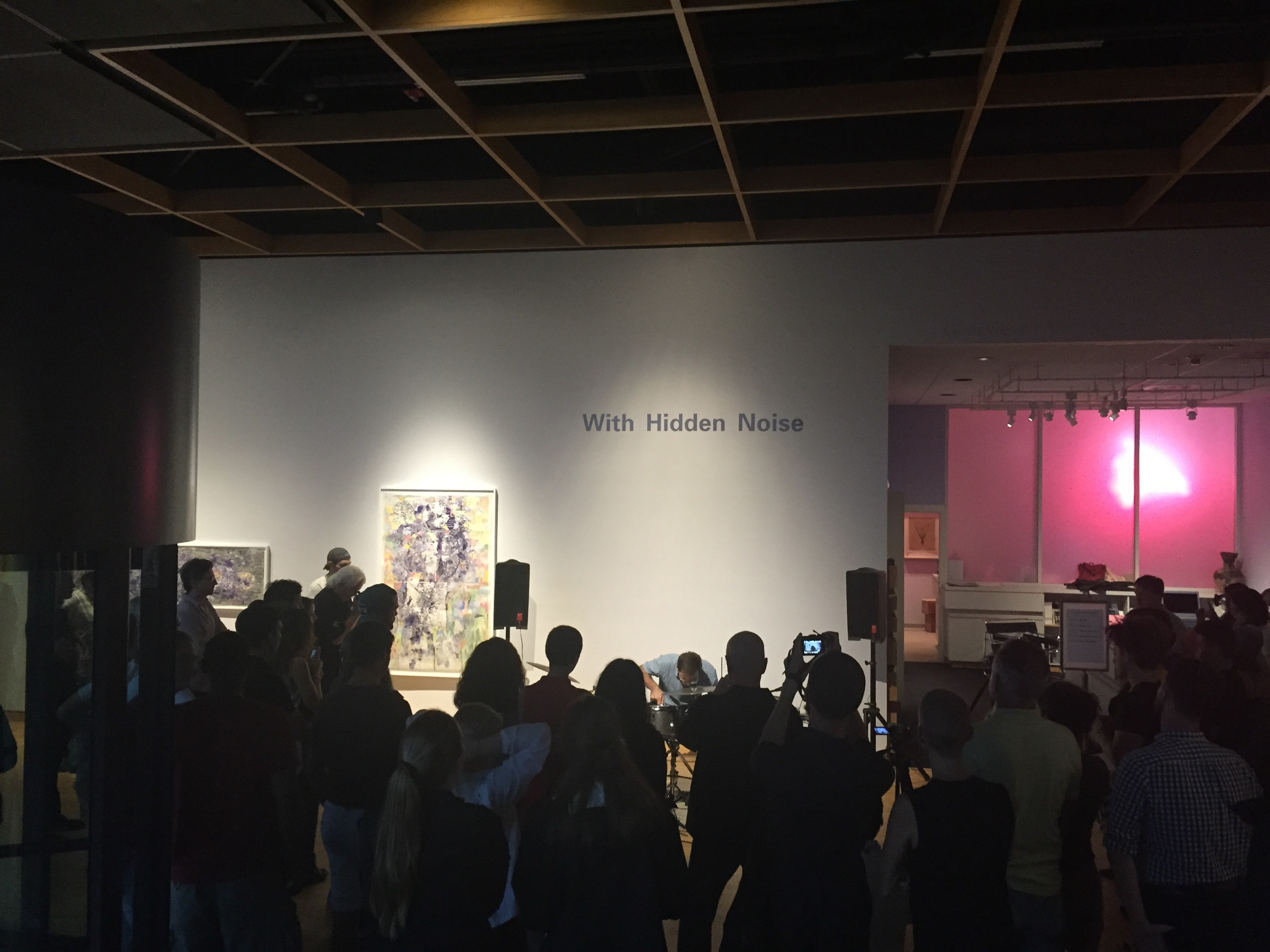 """""""With Hidden Noise"""" at the USF Contemporary Art Museum, Tampa, FL, 2015."""