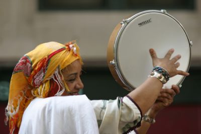 The Bendir is heard in native music throughout North Africa, and plays an important role in the ceremonial music of the sufi.