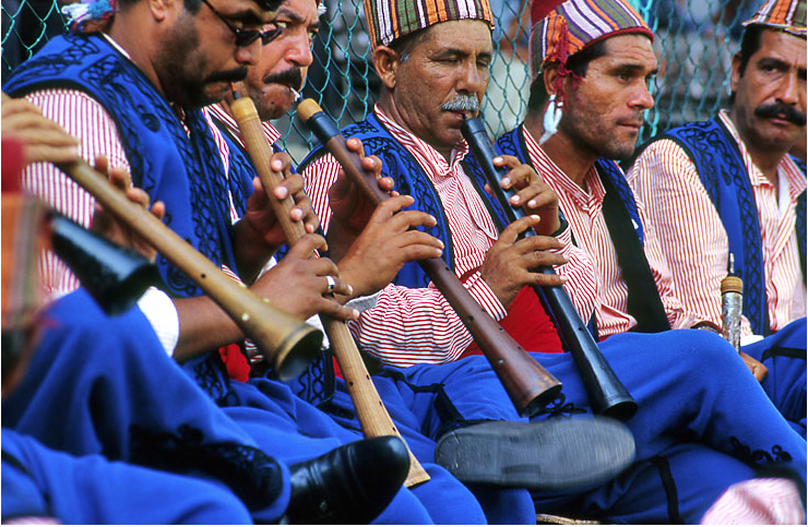 constructed of apricot or pear wood, the zurna is most frequently heard in conjunction with the dhol (see above).