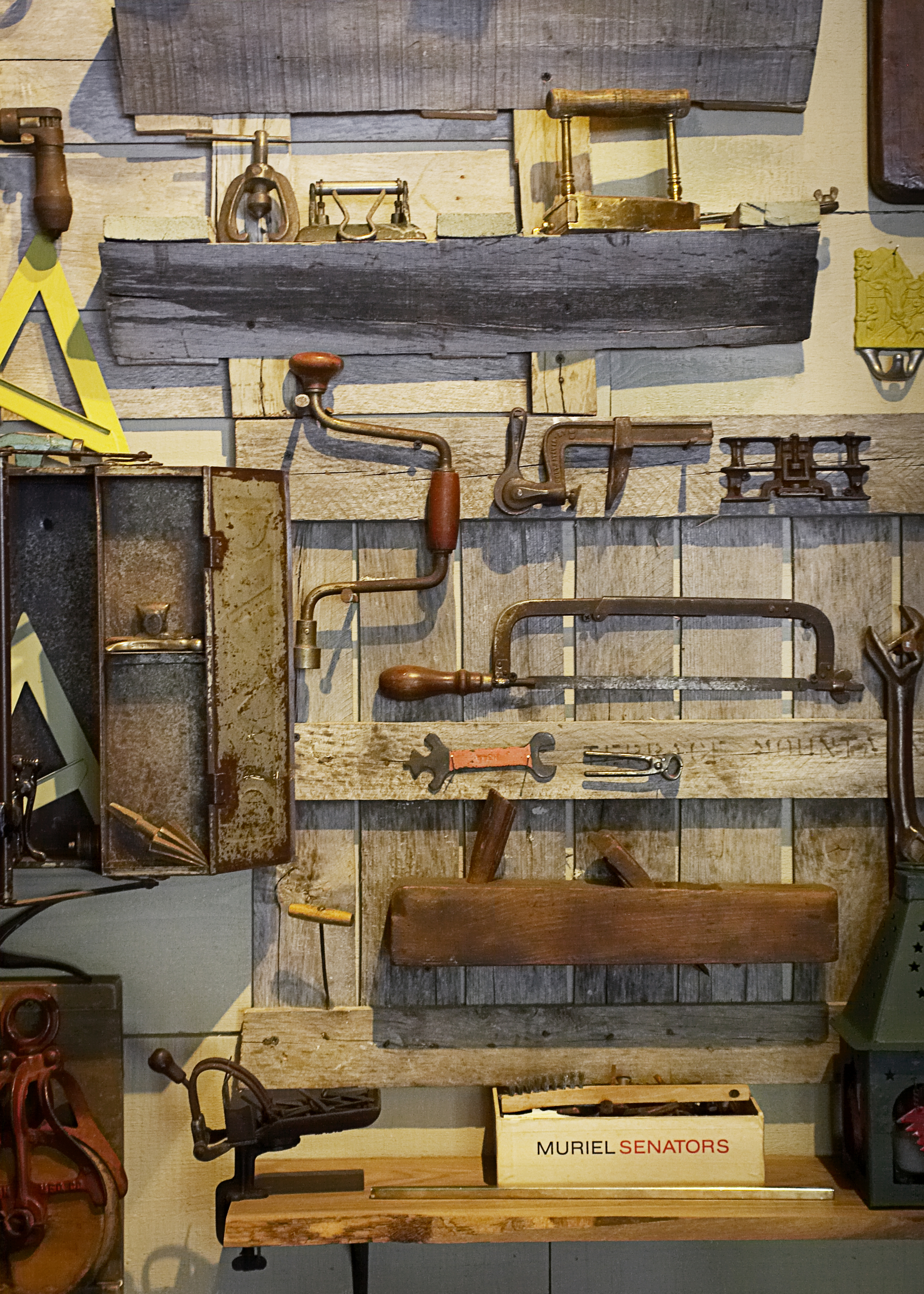 Many of the 18th century tools in the Tool Shed private dining room, came from the farm, and some were even used in building the restaurant.