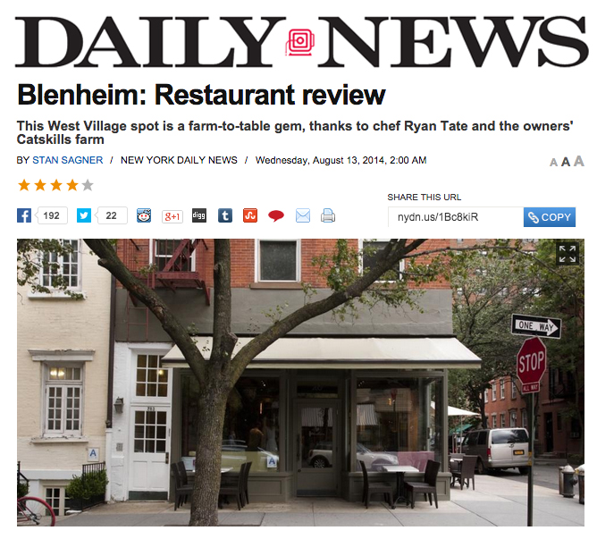 """""""Tate's concise seasonal menu shifts from night to night depending on ingredient availability and quality. Judging by what the kitchen sends out, quality is clearly the priority."""""""