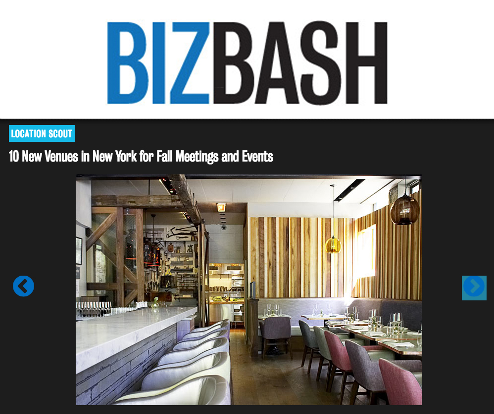Blenheim is one of New York City's best new venues for fall meetings and events. Private dining and restaurant buy-outs are available.
