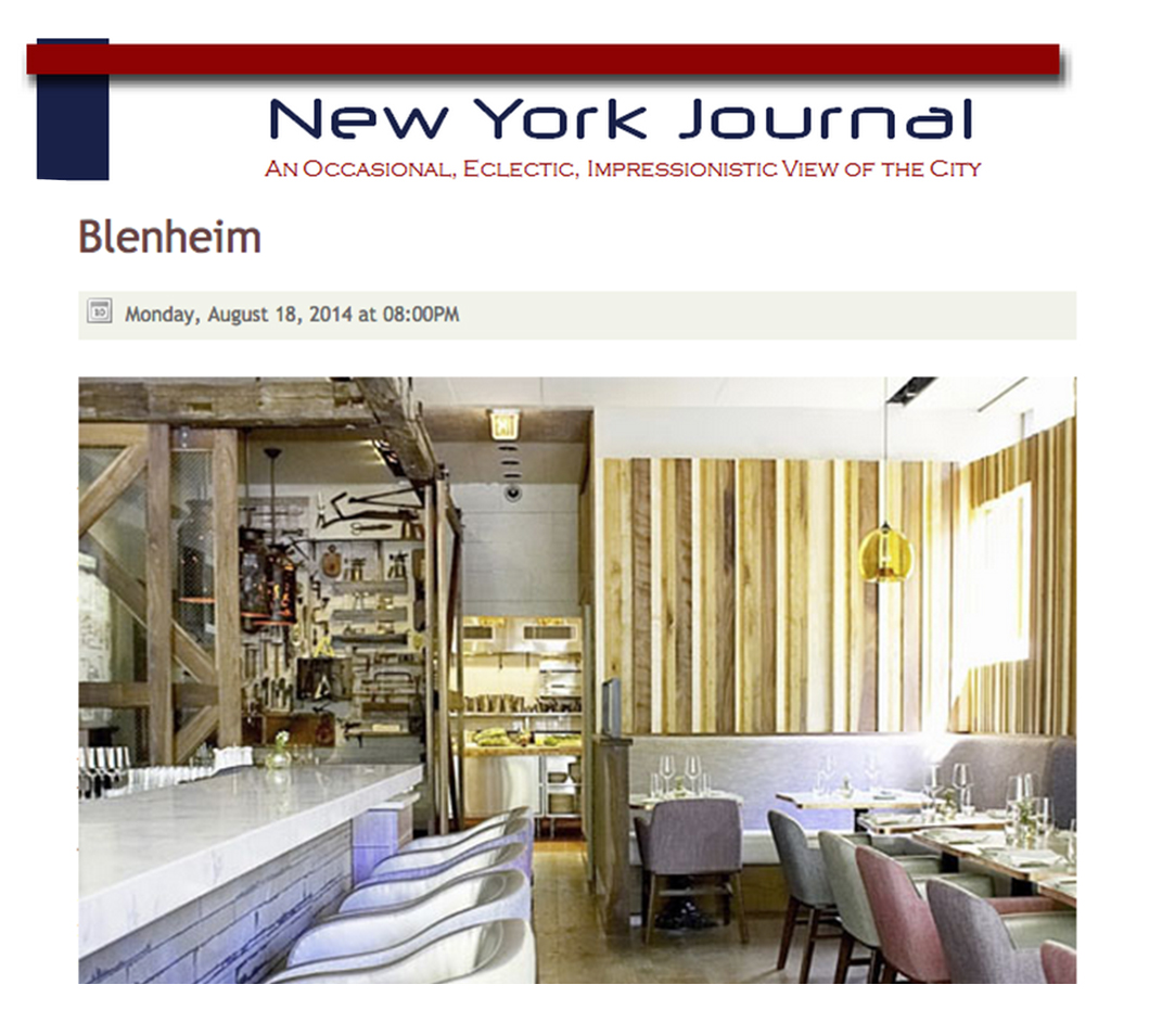 Michelin-starred Ryan Tate shines at Blenheim's kitchen, and catches the attention of this blogger.