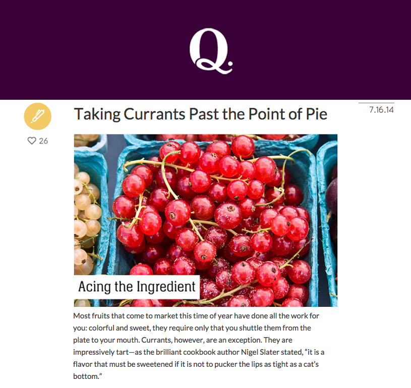 Blenheim Hill Farm has an abundant supply of currants that are used in creative ways on the menu. Chef Ryan Tate shares two unconventional ways to use currants.