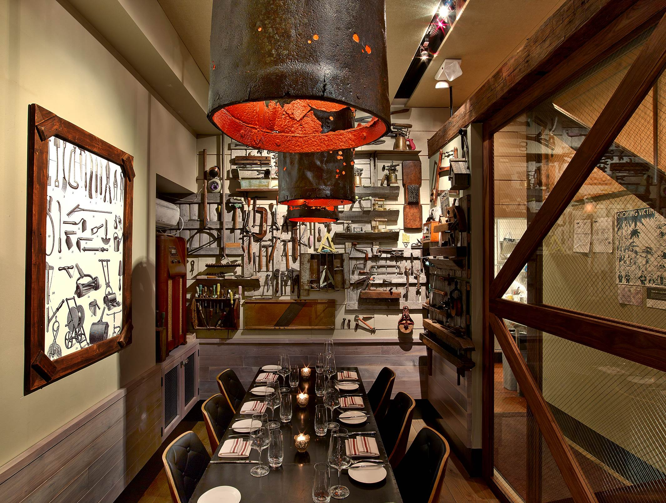 Our Toolshed provides an intimate space where you and your guests can dine with full privacy.