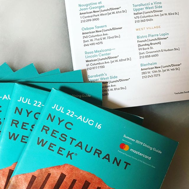 Come to Blenheim and pick up your Restaurant Week guide! We are taking reservations now, call 212-243-7073 or click the link in the bio to save your table. We'll be serving a special $26 lunch prix-fixe Tuesday-Friday during Restaurant a Week, and $42 dinner prix-fixe Sunday-Friday
