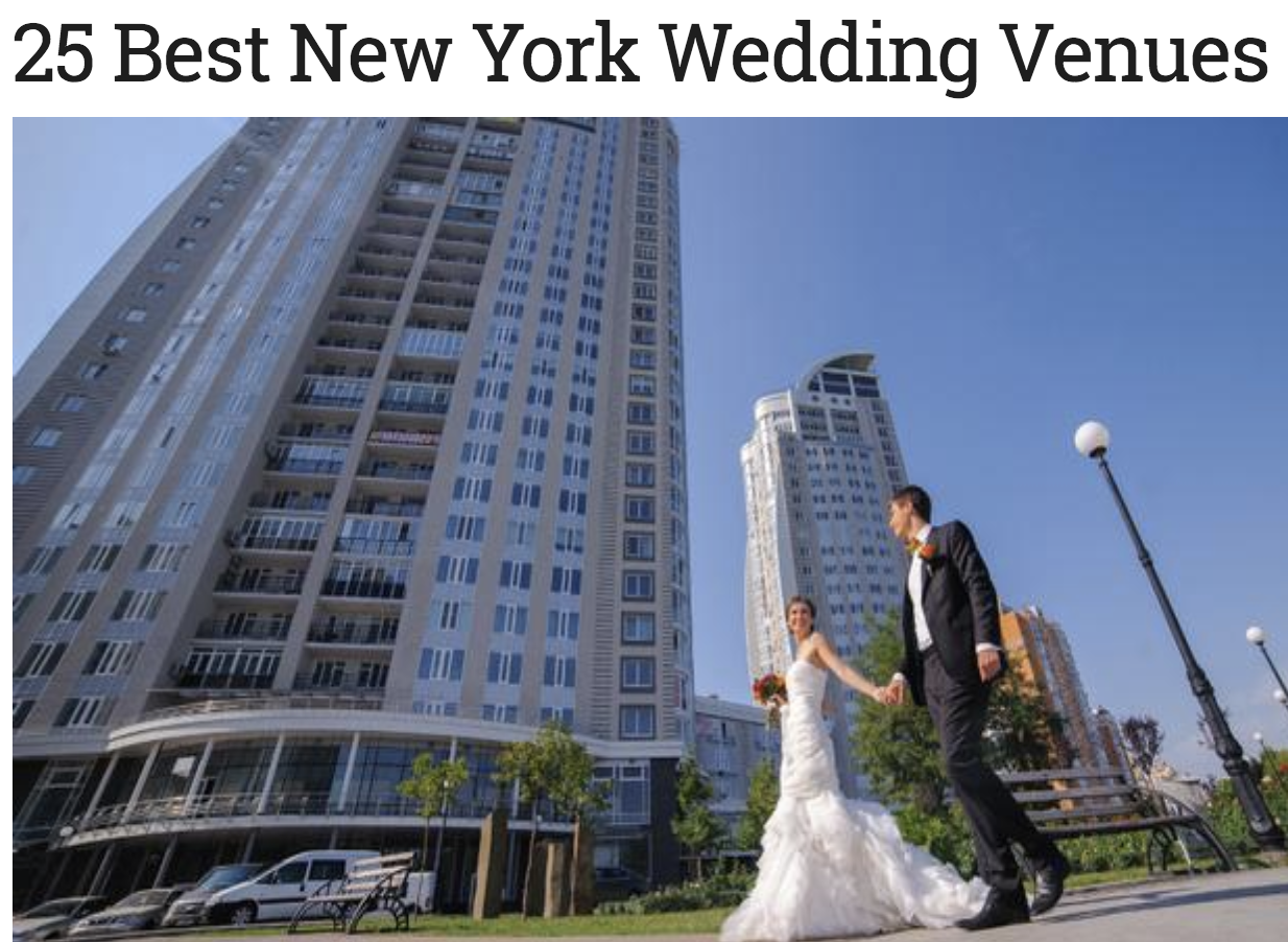 Our farm and wedding venue in the Catskills was featured as one of the 25 Best New York Wedding Venues!