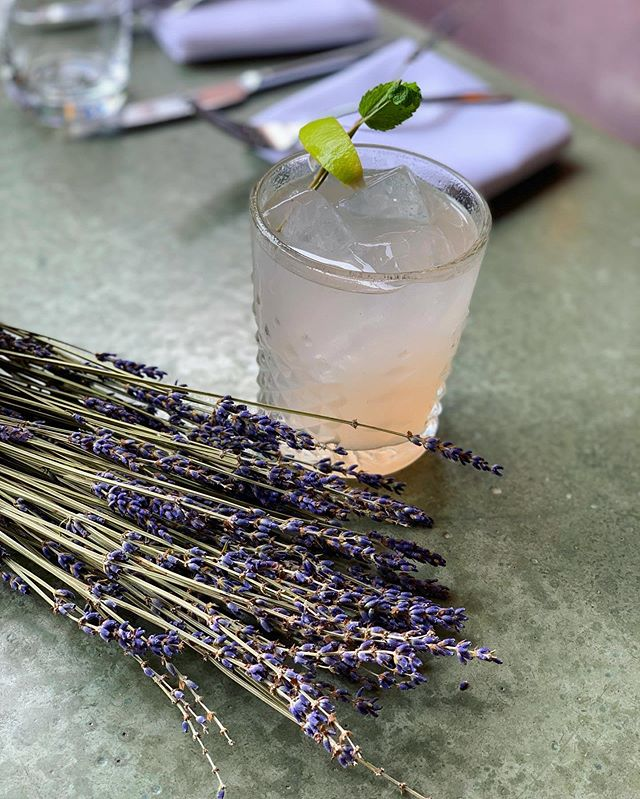 One day only drink special! The lavender mojito is a delicious spin on a classic, with a delicate lavender flavor and aroma. Stop by tonight and give it a taste!