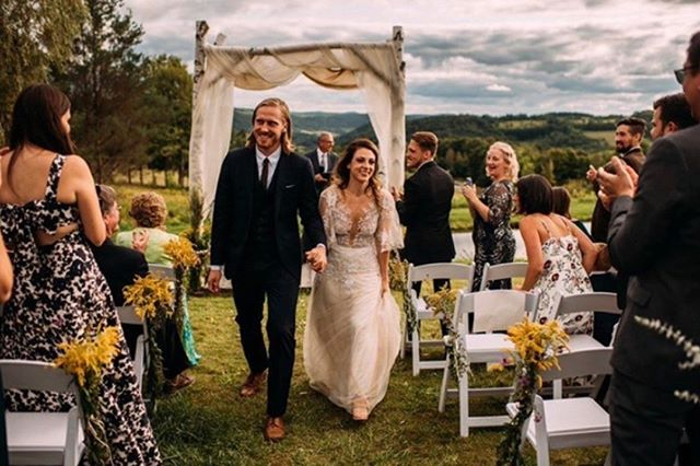 Wowing us with the boho-chic glam vibes! #couplegoals