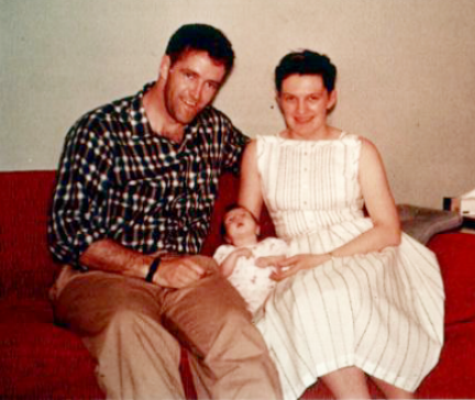 Roy and Shirley Nicholson with Dawn as an infant