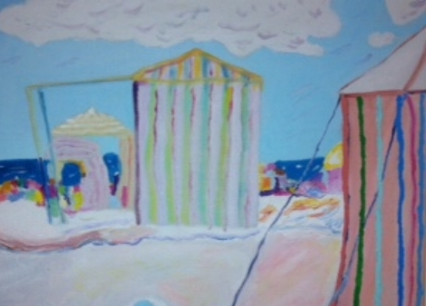 Partial glimpse of Dawn's painting-Dream Horizons