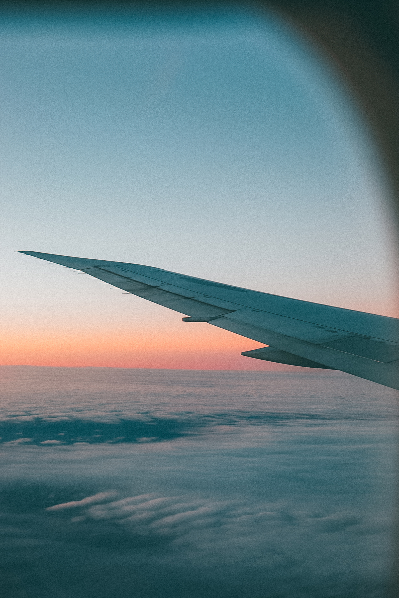 Travel Photography / Airplane Sunset / Wanderlust / Kelly Fiance Creative