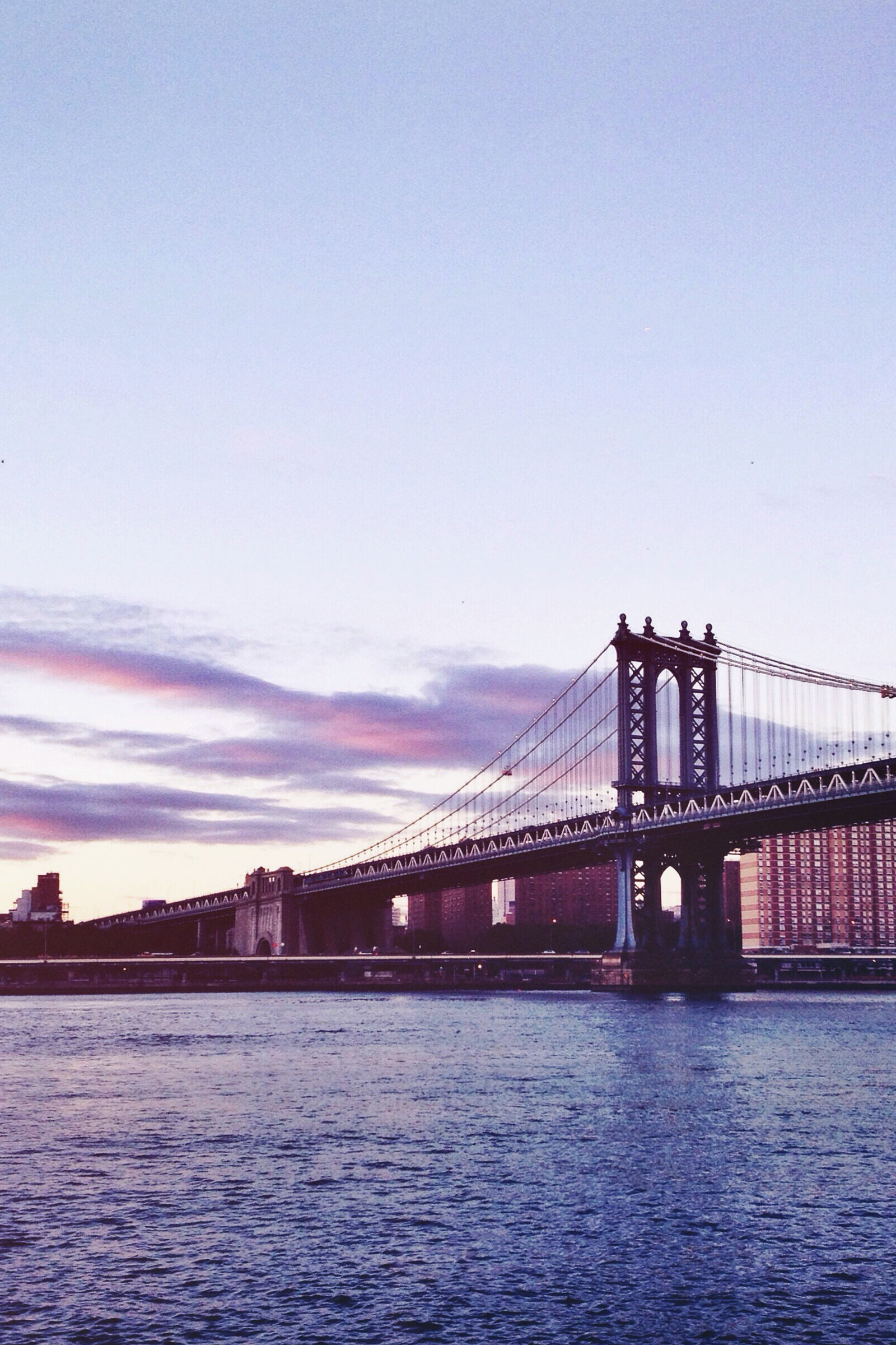 New York City Bridge at Sunset / City Photography / Brooklyn Travel / Kelly Fiance Creative