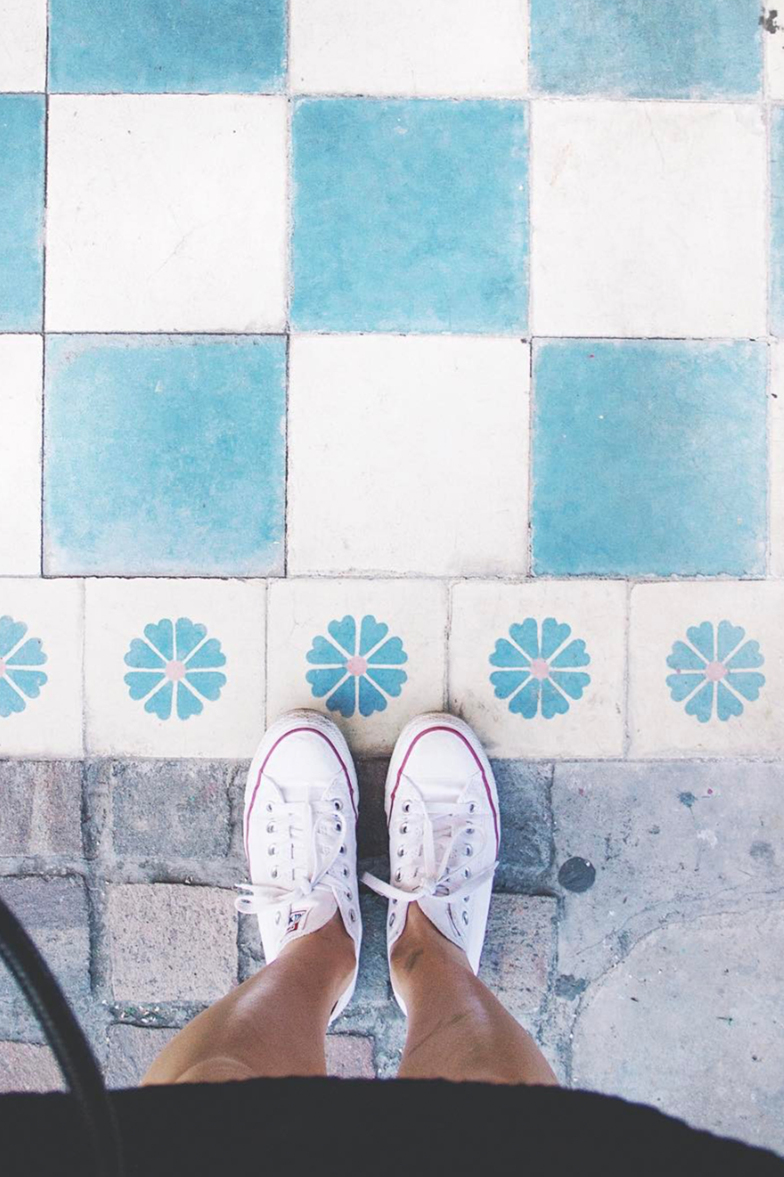 Cute Checkered Floor / Light Blue / Instagram Ideas / Home Decor / Kelly Fiance Creative