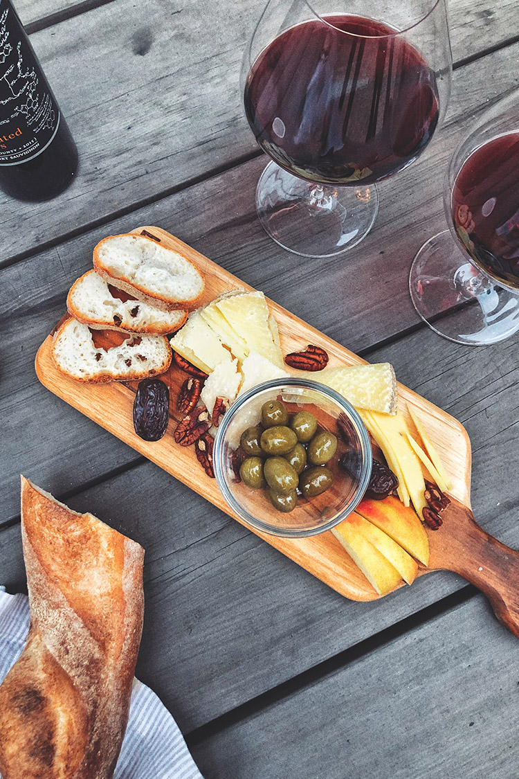 Wine & Cheese Board / Recipe Styling / Food Photography / Instagram Photo Ideas / Kelly Fiance Creative