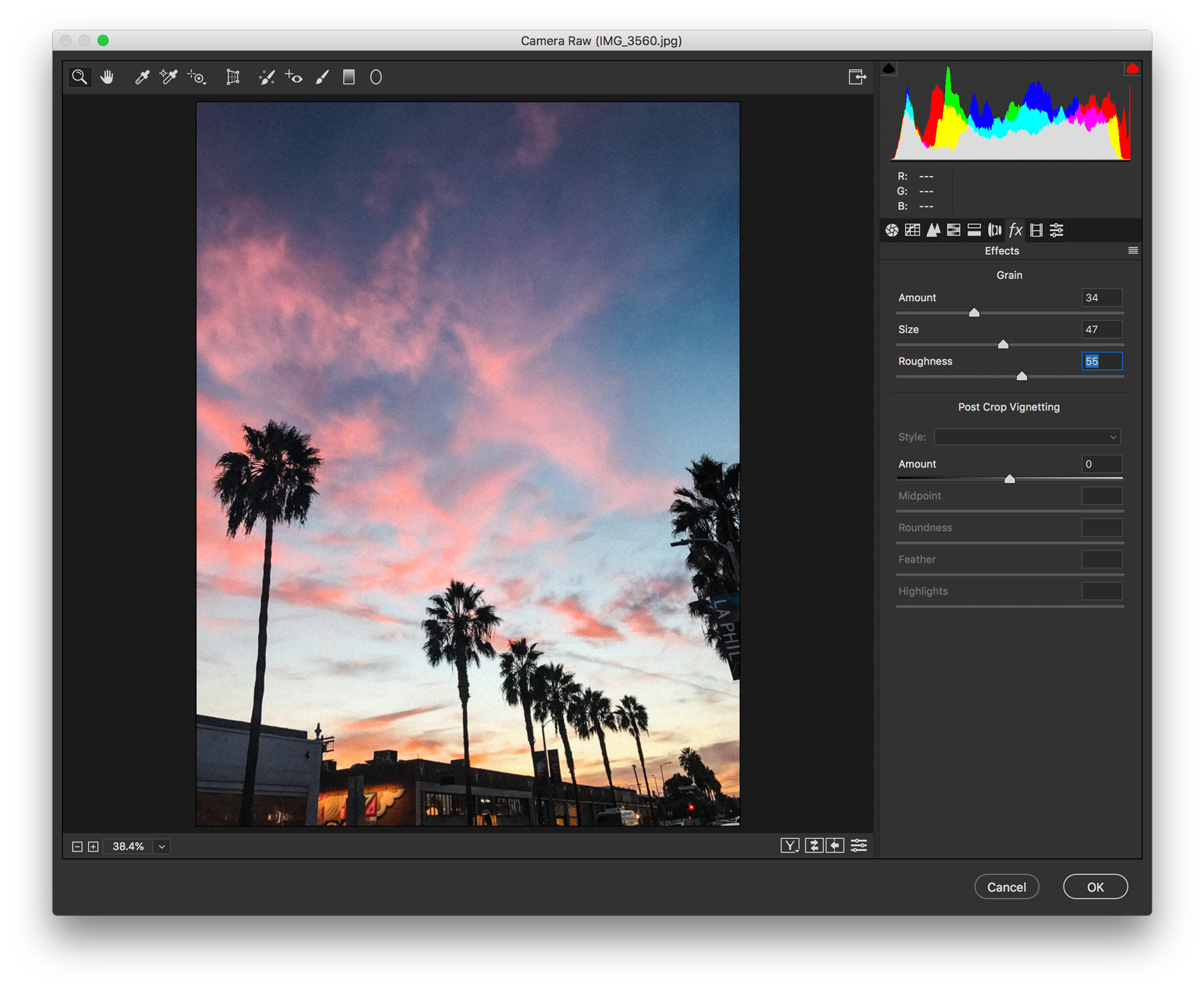 how to add grain in photoshop