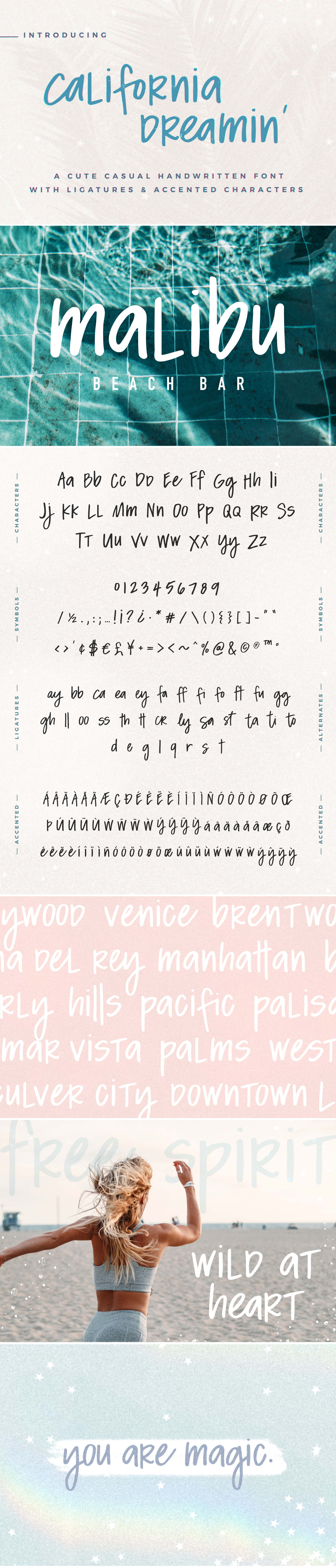 California Dreamin' Handwritten Font