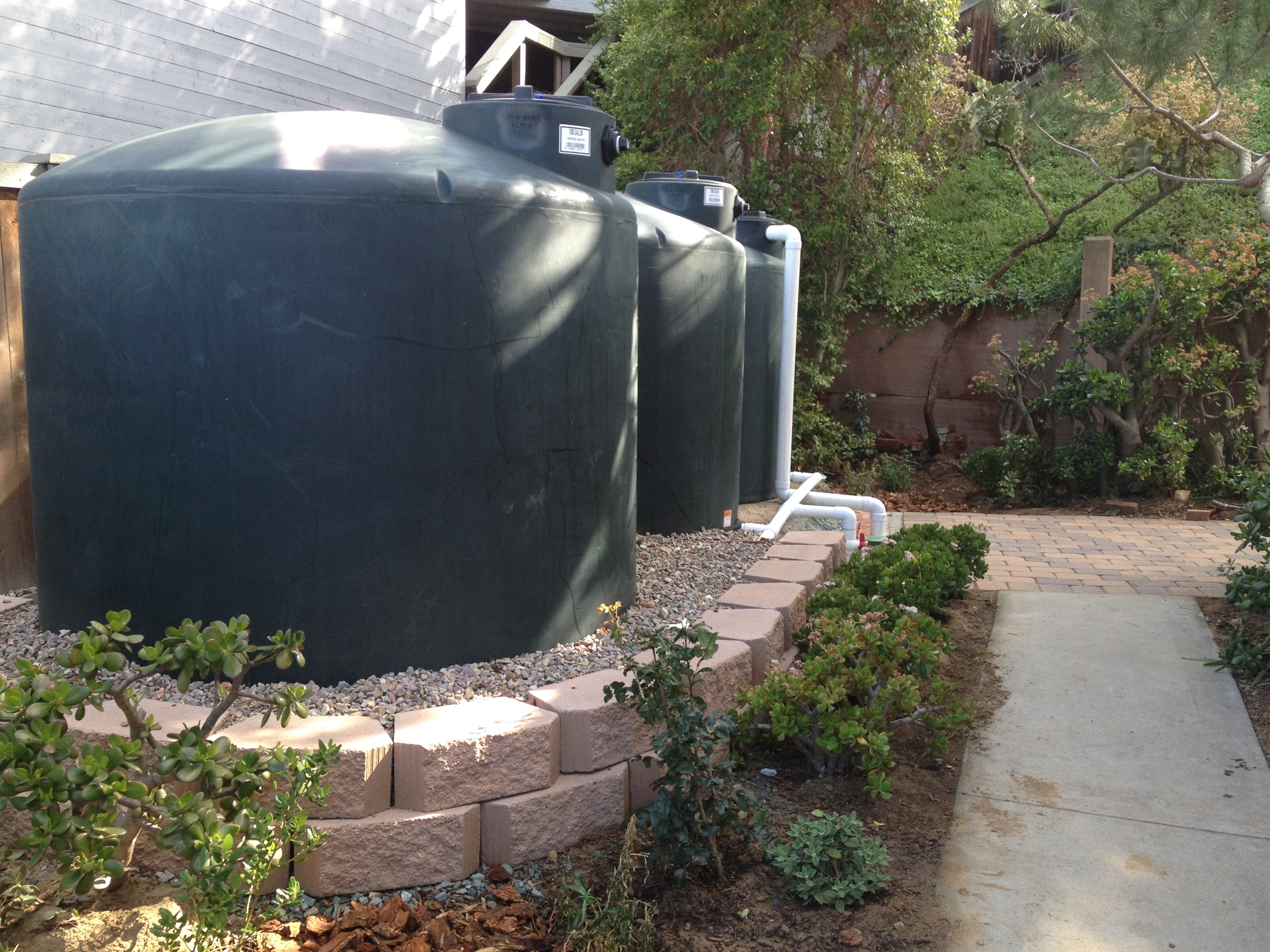 3 x 1000 gallon Rainwater tanks