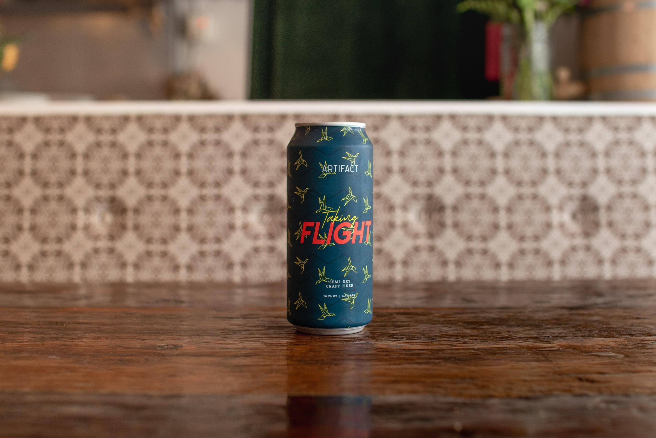Artifact Cider's Taking Flight // photo by Stephanie Cornell