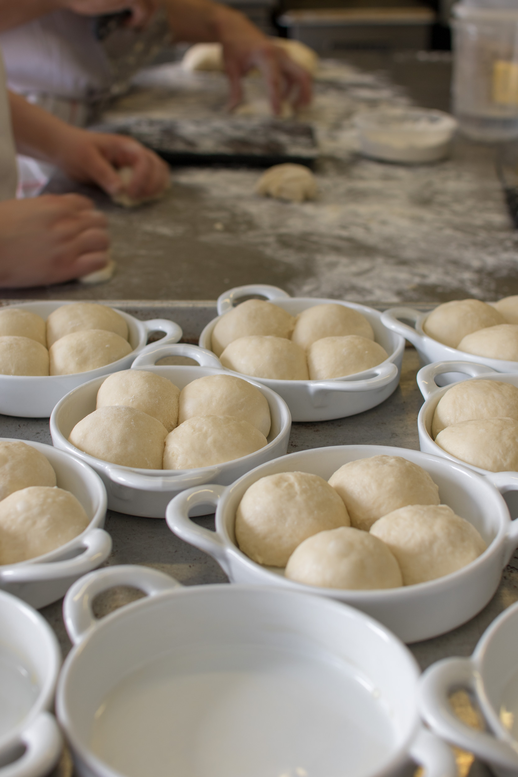 Clover rolls before the oven | Photo by Stephanie Cornell