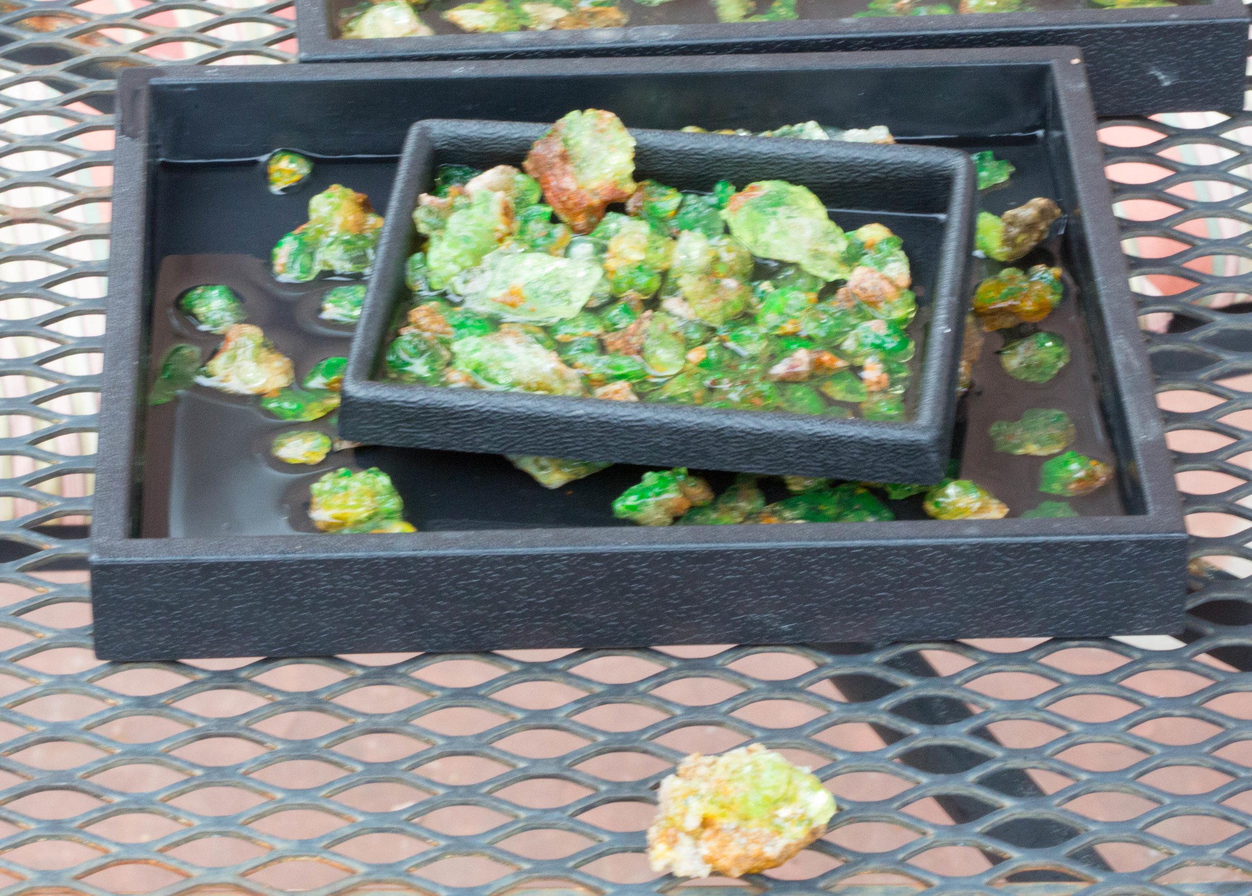Rough Green Luminescing Hyalite Opal