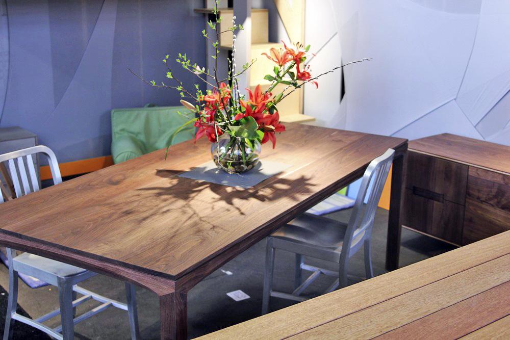 Modern walnut table
