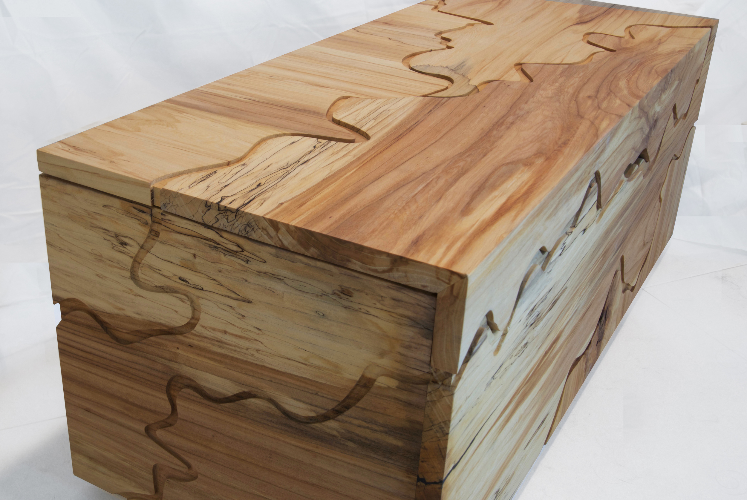 Elm routed cedar chest