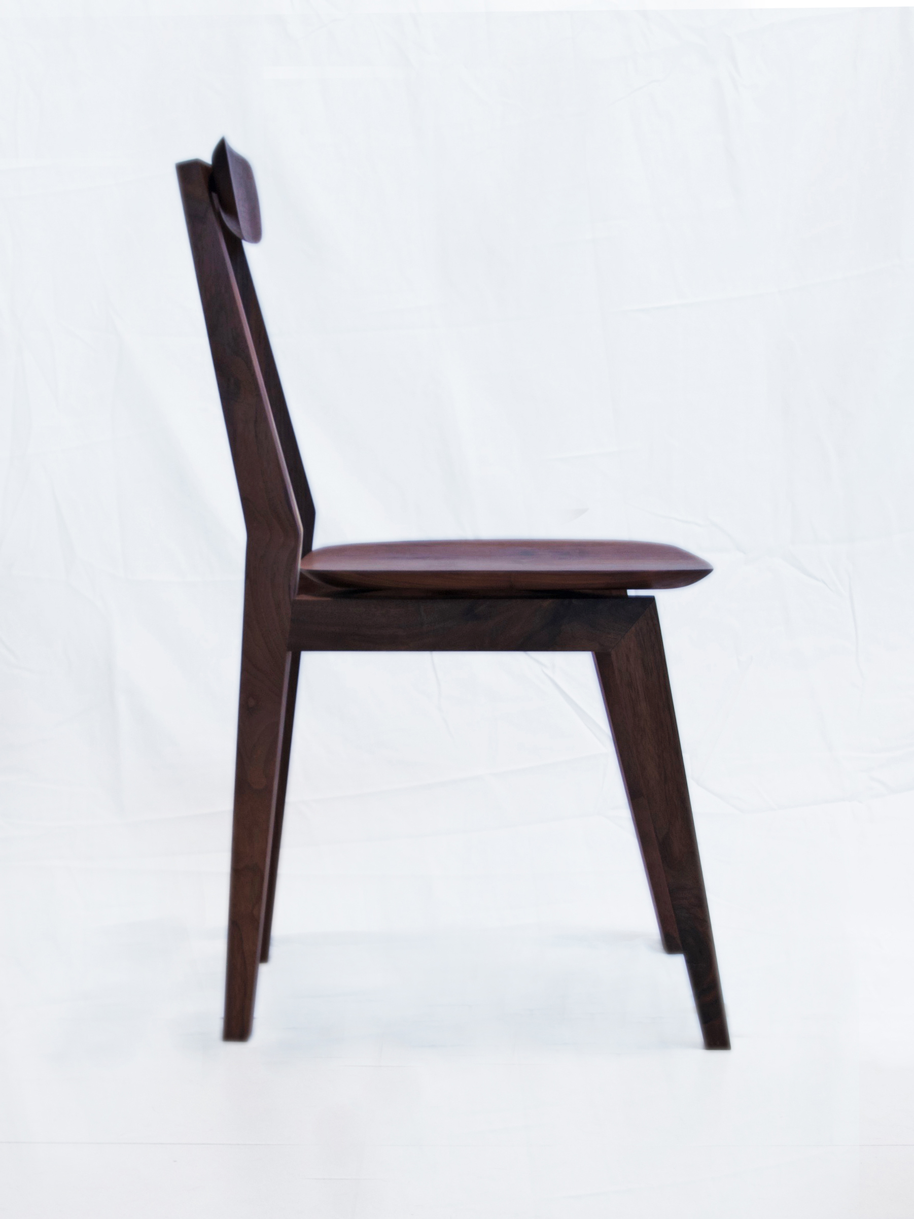 Modern walnut flip-milled chair