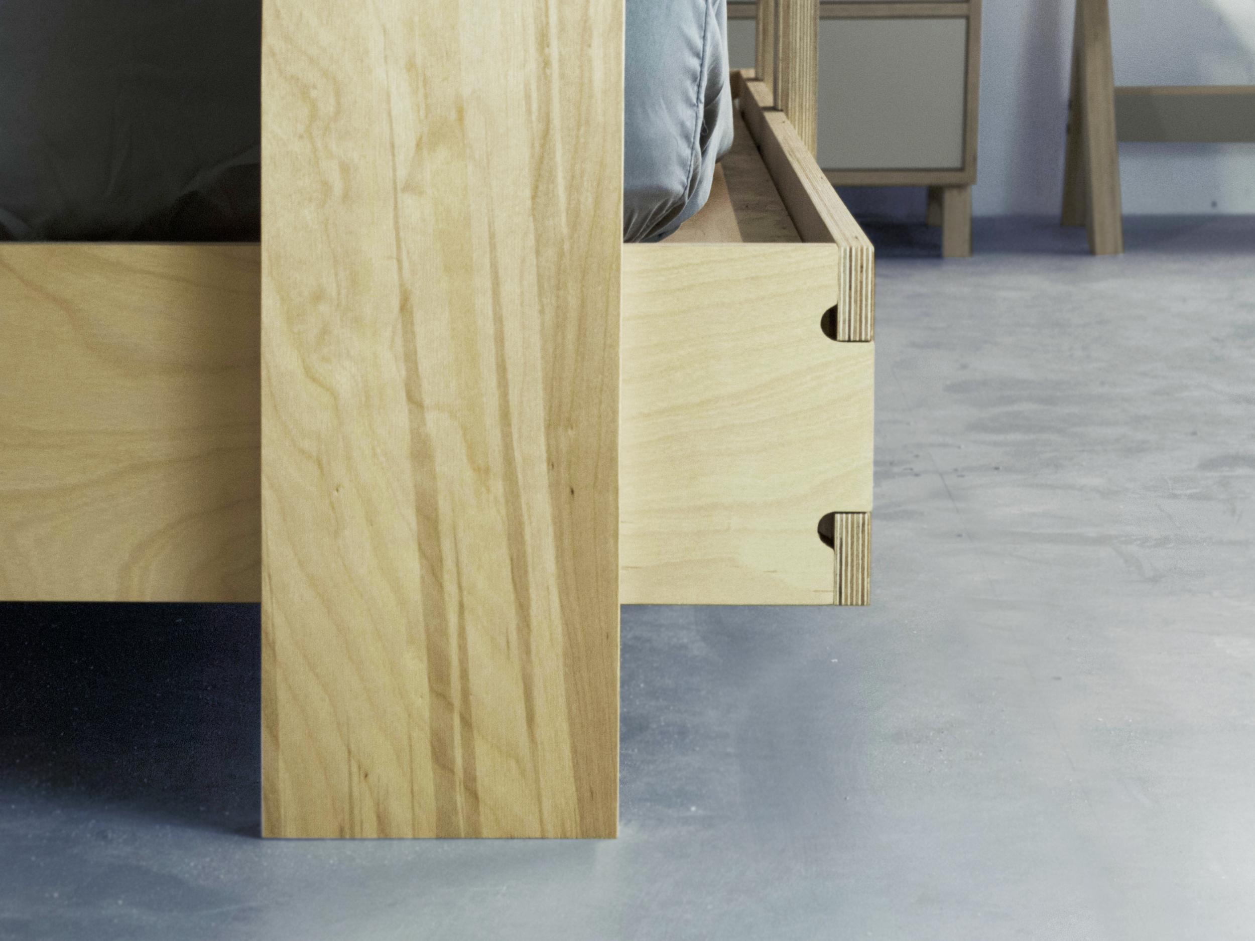 Modern baltic birch bunk bed