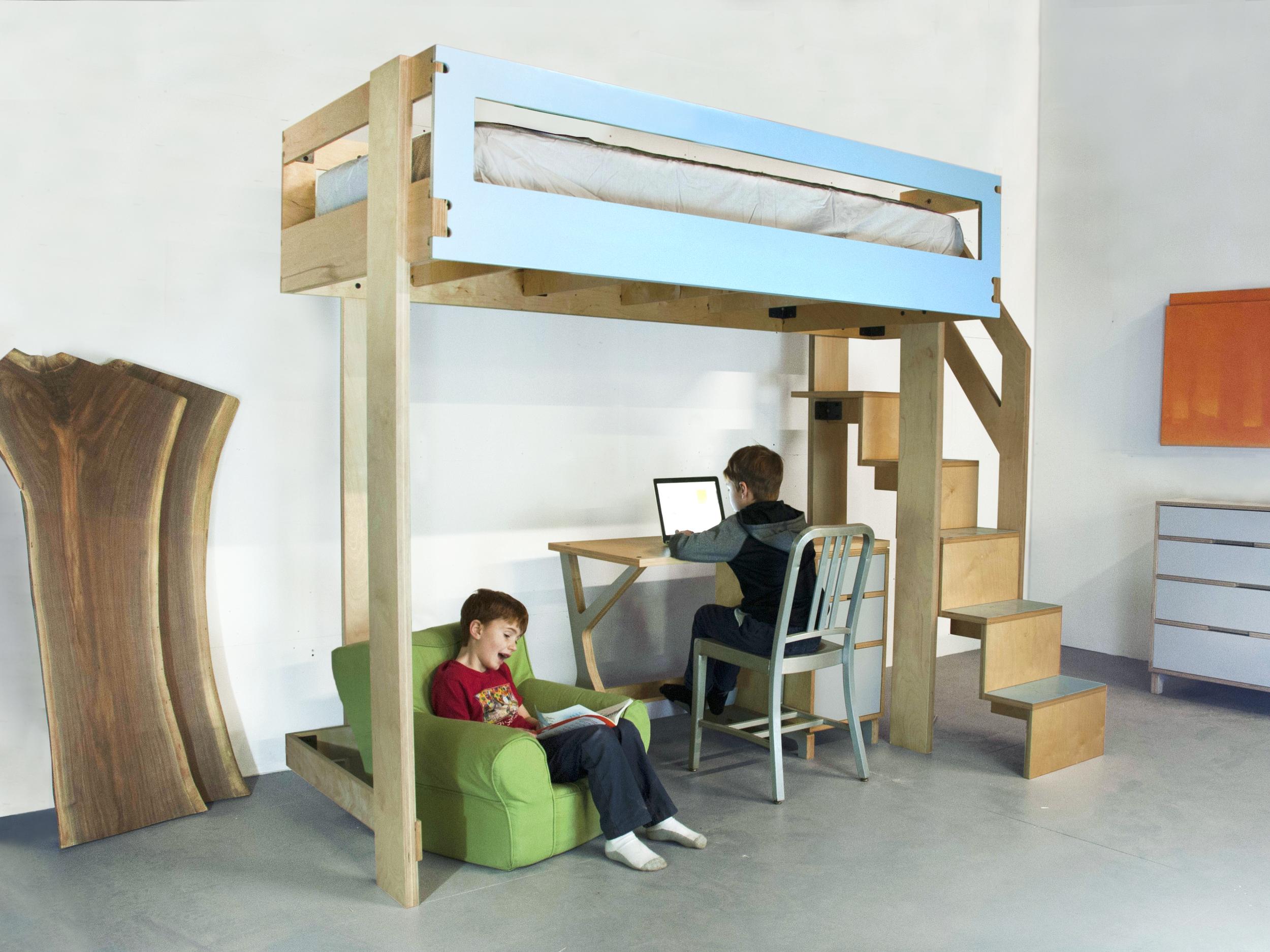 Modern baltic birch loft bed
