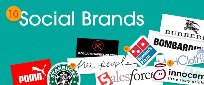 10 brands on social Media Networks